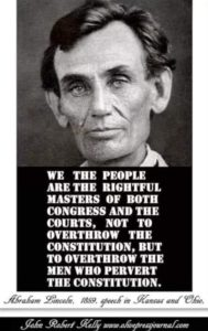 Abe Lincoln, Rightful Masters